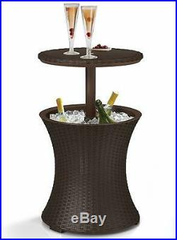 Cool Bar Table Patio Set Outdoor Furniture Bistro Piece Dining Pool BBQ