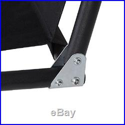Costway Garden Patio Metal Swing Chair Set 3 Seater Hammock Bench Swinging