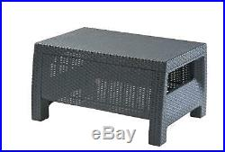 Curver Rattan Garden Furniture Set Corner Sofa Table Outdoor Patio Conservatory