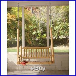 Deluxe Cedar Log Hanging Porch Swing