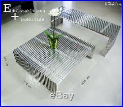 Edelstahl Sitzbank, Edelstahl Sideboard, Edelstahl Couchtisch, Edelstahl Hocker