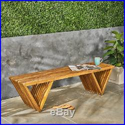 Esme Outdoor Acacia Wood Bench
