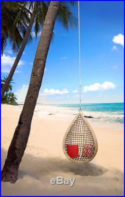 Eye Drop Handmade Hanging Cane Wicker Swing Chair