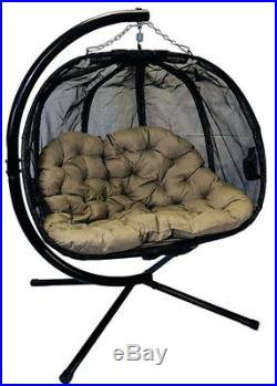 Flower House Hanging Hammock Pumpkin Loveseat Chair
