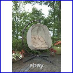 Flowerhouse Egg Hanging Swing Chair With Stand Bark FHEC100-BRK