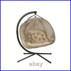 Flowerhouse Pumpkin Hanging Swing Chair With Stand Bark FHPC100-BRK