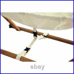 Foldable baby hammock natural wooden babyhammock cradle cotton travel crib swing
