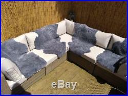 Four Ratan Garden Furniture Seat Covers/ Throws Sheepskin Rugs