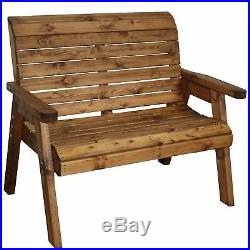 Garden Furniture 2 Seater High Back Bench Wooden Wood Supplied Flat Packed
