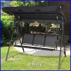Garden Outdoor 3 Person Family Canopy Glider Hammock Porch Swing Bench Chair US & Garden Outdoor 3 Person Family Canopy Glider Hammock Porch Swing ...