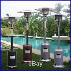 Garden Outdoor Patio Heater Propane Standing LP Gas Steel withaccessories New