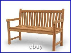 Gartenbank Sitzbank Gartenmöbel 4-Sitzer aus massiven Teak Holz (2676)