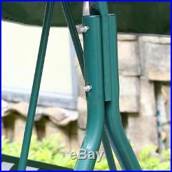 Green Outdoor Patio Swing Canopy Awning Yard Furniture Hammock Steel 2 Person