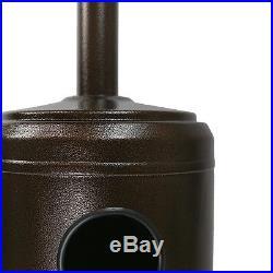 Hammered Bronze Outdoor Patio Heater Propane LP Gas Garden Deck Tall Golden