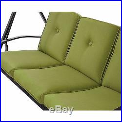 Hammock Swing with Canopy Outdoor Patio Yard Furniture Steel Cushioned Green New