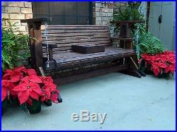Handmade Heavy Duty Cedar Porch Glider Patio Glider Bench Glider Patio Furniture
