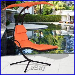 Hanging Chaise Lounge Chair Arc Stand Air Porch Swing Hammock Chair Canopy New