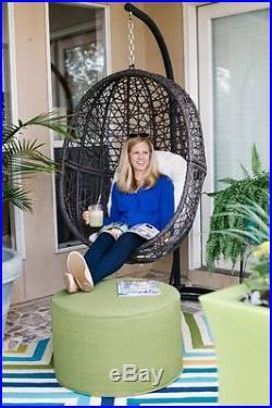 Hanging Egg Chair Hammock Swing Stand Cushion Wicker Hang Patio Yard Bedroom Tuf