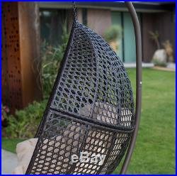 Hanging Egg Chair Outdoor Loveseat Cushion Stand 2 Seat