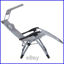 Heavy Duty Set of 2 Zero Gravity Chair Recliner withSunshade Holder Support 400lbs