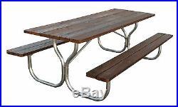 Heavy-duty Aluminum 8ft. Picnic table frame Rosendale Picnic Tables