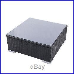 In/Outdoor Wicker Patio Sofa Set Rattan Sectional Furniture Garden Deck Couch