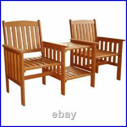 Jakarta Hardwood Wooden Garden Furniture Tete-A-Tete Garden Seat / Bench & Table