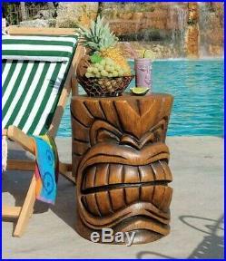 Kanaloa Teeth TIKI HEAD Sculpture COCKTAIL BAR TABLE OUTDOOR POOL Tropical Decor