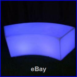 LED Light Up Curve Bench Garden Furniture LED