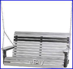 LuxCraft Poly 4' Rollback Plain Outdoor Porch Swing