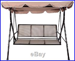 Luxury 3 Seater Swinging Garden Hammock Swing Chair Outdoor Bench Seat Lounger