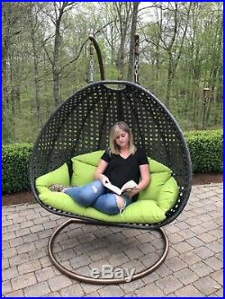 Luxury Indoor or Outdoor Swing Chair for two Hanging with stand