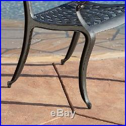 Luxury Outdoor Patio Furniture 5pcs Cast Aluminum Black Sand Dining Set