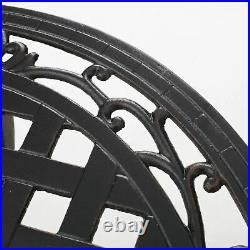 Lyon Traditional Outdoor 3-Piece Black with Bronze Cast Aluminum Bistro Set