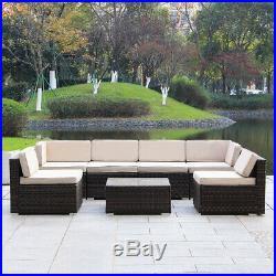 MAGIC UNION Patio Rattan Wicker Outdoor Furniture Sectional 7-Piece Sofa Set