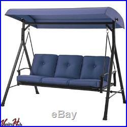 Metal Porch Swing Bed With Canopy Outdoor Patio Rocker Hammock Garden Furniture