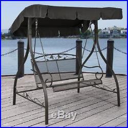 Metal Porch Swing Outdoor Patio Furniture Backyard Canopy Garden Seat Hammock