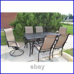 Mica 7 piece pc slat tabletop patio dining set original