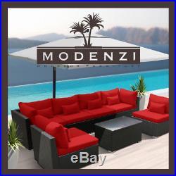 Modenzi 7G Outdoor Wicker Rattan Sectional Patio Furniture Sofa Set Garden Chair