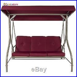 Modern Converting Outdoor Swing Canopy Hammock Seats 3 Patio Deck Furniture New