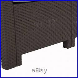 New 5 PC Patio Outdoor All Weather Cushions Rattan Sofa Plastic Wicker Furniture