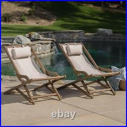 Northland Outdoor Wood and Canvas Sling Chair (Set of 2)
