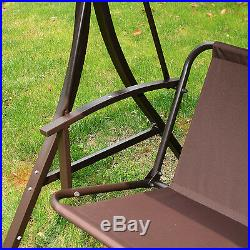 Outdoor 3 Person Patio Gazebo Swing Hammock Chair with Canopy & Removable Cushion