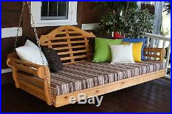 Outdoor 75 Marlboro Porch Swing Bed 8 Stain Options Fits Single Mattress