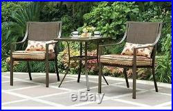 Outdoor Bistro Set 3-Piece Patio Chairs Table Furniture Garden Seat Backyard NEW