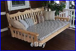 Outdoor CEDAR 5 Ft Royal English Garden Porch SWING BED UNFINISHED Oversized