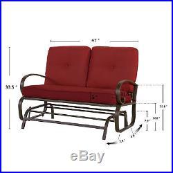 Super Outdoor Glider Rocking Chair Garden Patio Loveseat Furniture Spiritservingveterans Wood Chair Design Ideas Spiritservingveteransorg