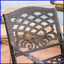 Outdoor Patio Furniture 5pcs Bronze Cast Aluminum Dining Set