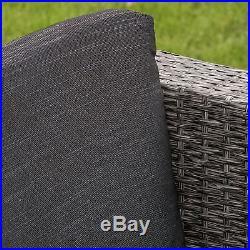 Outdoor Patio Furniture Grey PE Wicker 4pcs Luxury Sofa Seating Set