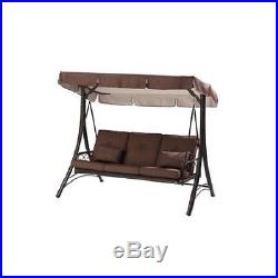 outdoor patio swing brown backyard hammock 3 person chair deck shade cover new brown covers outdoor patio